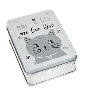 Cats Whiskers Oblong Tin (white lid)